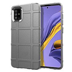 Funda Silicona Ultrafina Goma 360 Grados Carcasa para Samsung Galaxy A51 4G Gris