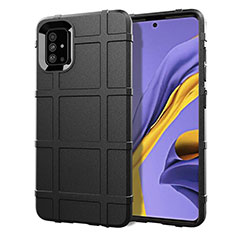 Funda Silicona Ultrafina Goma 360 Grados Carcasa para Samsung Galaxy A51 4G Negro