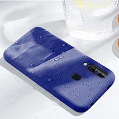 Funda Silicona Ultrafina Goma 360 Grados Carcasa para Samsung Galaxy A60 Azul