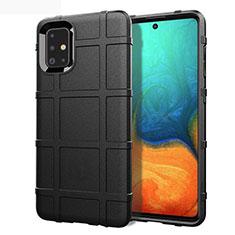 Funda Silicona Ultrafina Goma 360 Grados Carcasa para Samsung Galaxy A71 5G Negro