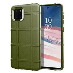 Funda Silicona Ultrafina Goma 360 Grados Carcasa para Samsung Galaxy A81 Verde