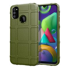 Funda Silicona Ultrafina Goma 360 Grados Carcasa para Samsung Galaxy M21 Verde