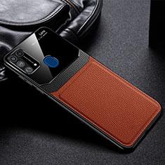 Funda Silicona Ultrafina Goma 360 Grados Carcasa para Samsung Galaxy M21s Marron