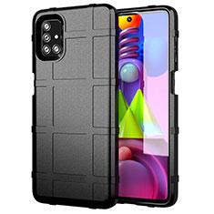 Funda Silicona Ultrafina Goma 360 Grados Carcasa para Samsung Galaxy M51 Negro
