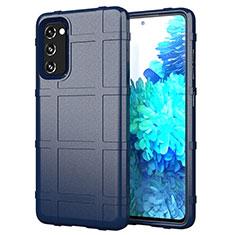 Funda Silicona Ultrafina Goma 360 Grados Carcasa para Samsung Galaxy S20 FE 5G Azul