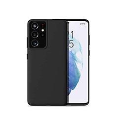 Funda Silicona Ultrafina Goma 360 Grados Carcasa para Samsung Galaxy S21 Ultra 5G Negro