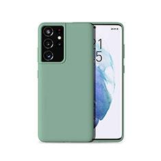Funda Silicona Ultrafina Goma 360 Grados Carcasa para Samsung Galaxy S21 Ultra 5G Verde