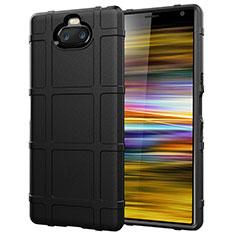 Funda Silicona Ultrafina Goma 360 Grados Carcasa para Sony Xperia 10 Plus Negro