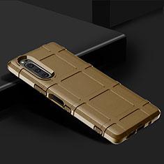 Funda Silicona Ultrafina Goma 360 Grados Carcasa para Sony Xperia 5 Marron