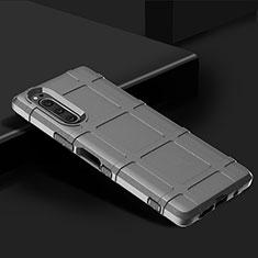 Funda Silicona Ultrafina Goma 360 Grados Carcasa para Sony Xperia 5 Plata