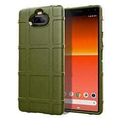 Funda Silicona Ultrafina Goma 360 Grados Carcasa para Sony Xperia 8 Ejercito Verde