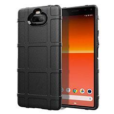 Funda Silicona Ultrafina Goma 360 Grados Carcasa para Sony Xperia 8 Lite Negro