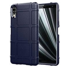 Funda Silicona Ultrafina Goma 360 Grados Carcasa para Sony Xperia L3 Azul