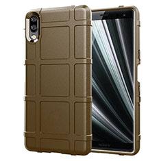 Funda Silicona Ultrafina Goma 360 Grados Carcasa para Sony Xperia L3 Marron
