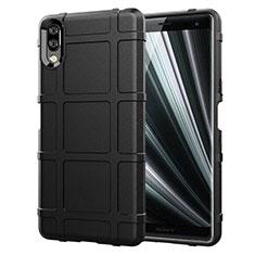 Funda Silicona Ultrafina Goma 360 Grados Carcasa para Sony Xperia L3 Negro