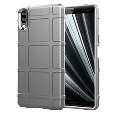 Funda Silicona Ultrafina Goma 360 Grados Carcasa para Sony Xperia L3 Plata
