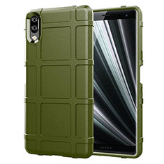 Funda Silicona Ultrafina Goma 360 Grados Carcasa para Sony Xperia L3 Verde