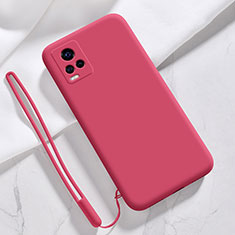 Funda Silicona Ultrafina Goma 360 Grados Carcasa para Vivo V20 Pro 5G Rojo Rosa