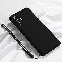 Funda Silicona Ultrafina Goma 360 Grados Carcasa para Vivo X50 5G Negro