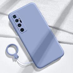 Funda Silicona Ultrafina Goma 360 Grados Carcasa para Xiaomi Mi 10 Ultra Gris Lavanda