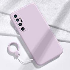Funda Silicona Ultrafina Goma 360 Grados Carcasa para Xiaomi Mi 10 Ultra Purpura Claro