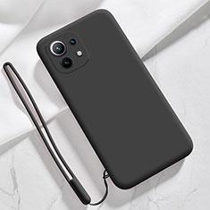 Funda Silicona Ultrafina Goma 360 Grados Carcasa para Xiaomi Mi 11 5G Negro