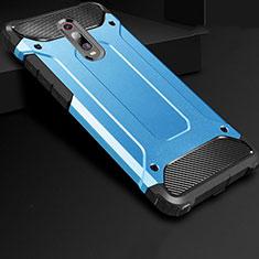 Funda Silicona Ultrafina Goma 360 Grados Carcasa para Xiaomi Mi 9T Azul