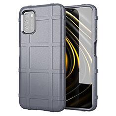Funda Silicona Ultrafina Goma 360 Grados Carcasa para Xiaomi Poco M3 Gris