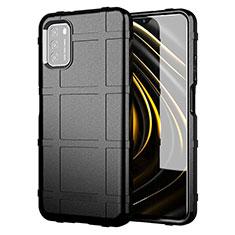 Funda Silicona Ultrafina Goma 360 Grados Carcasa para Xiaomi Poco M3 Negro