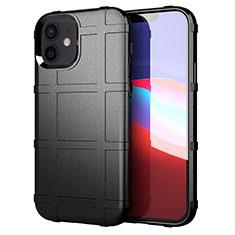Funda Silicona Ultrafina Goma 360 Grados Carcasa S01 para Apple iPhone 12 Mini Negro