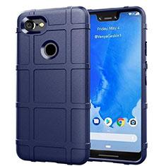 Funda Silicona Ultrafina Goma 360 Grados Carcasa S01 para Google Pixel 3 XL Azul