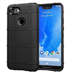 Funda Silicona Ultrafina Goma 360 Grados Carcasa S01 para Google Pixel 3 XL Negro