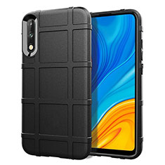 Funda Silicona Ultrafina Goma 360 Grados Carcasa S01 para Huawei Enjoy 10 Negro