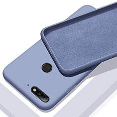 Funda Silicona Ultrafina Goma 360 Grados Carcasa S01 para Huawei Honor 7A Azul