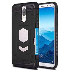 Funda Silicona Ultrafina Goma 360 Grados Carcasa S01 para Huawei Mate 10 Lite Negro