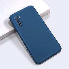 Funda Silicona Ultrafina Goma 360 Grados Carcasa S01 para Huawei Mate 40 Lite 5G Azul Real
