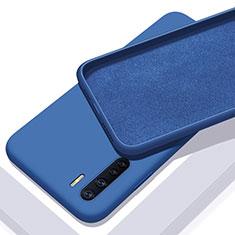 Funda Silicona Ultrafina Goma 360 Grados Carcasa S01 para Oppo A91 Azul