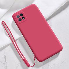 Funda Silicona Ultrafina Goma 360 Grados Carcasa S01 para Oppo Reno4 SE 5G Rojo Rosa