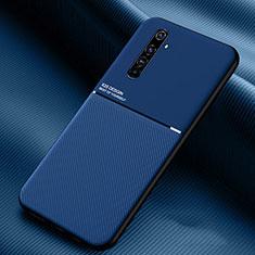 Funda Silicona Ultrafina Goma 360 Grados Carcasa S01 para Realme X50 Pro 5G Azul