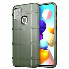 Funda Silicona Ultrafina Goma 360 Grados Carcasa S01 para Samsung Galaxy A21s Verde