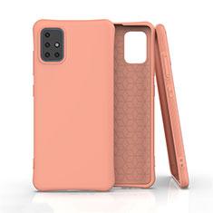 Funda Silicona Ultrafina Goma 360 Grados Carcasa S01 para Samsung Galaxy A51 4G Naranja
