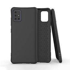 Funda Silicona Ultrafina Goma 360 Grados Carcasa S01 para Samsung Galaxy A51 4G Negro
