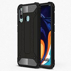 Funda Silicona Ultrafina Goma 360 Grados Carcasa S01 para Samsung Galaxy A60 Negro