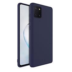 Funda Silicona Ultrafina Goma 360 Grados Carcasa S01 para Samsung Galaxy A81 Azul