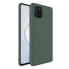 Funda Silicona Ultrafina Goma 360 Grados Carcasa S01 para Samsung Galaxy A81 Verde