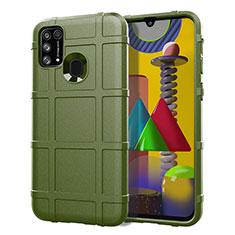 Funda Silicona Ultrafina Goma 360 Grados Carcasa S01 para Samsung Galaxy M21s Verde