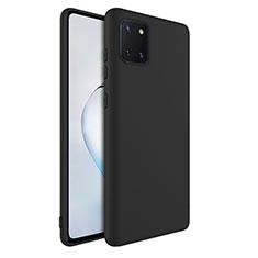 Funda Silicona Ultrafina Goma 360 Grados Carcasa S01 para Samsung Galaxy Note 10 Lite Negro