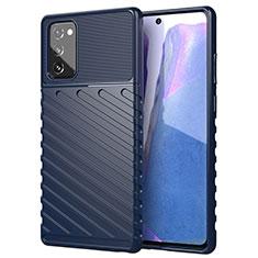 Funda Silicona Ultrafina Goma 360 Grados Carcasa S01 para Samsung Galaxy Note 20 5G Azul