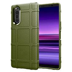 Funda Silicona Ultrafina Goma 360 Grados Carcasa S01 para Sony Xperia 5 Verde