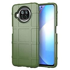 Funda Silicona Ultrafina Goma 360 Grados Carcasa S01 para Xiaomi Mi 10i 5G Ejercito Verde